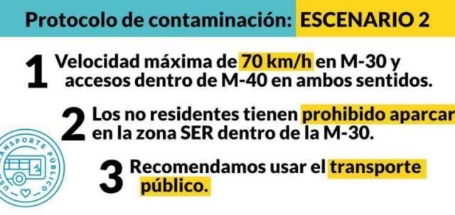 "Madrid activa ""Escenario 2"""